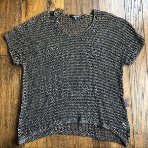 Eileen Fisher Short Sleeve Scoop neck Sweater Sz M